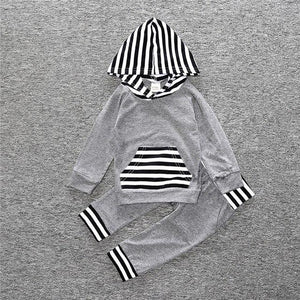 Baby Boys Girls Clothes Set Suits Warm Tops Hoodie T-shirt + Leggingsdresskily-dresskily