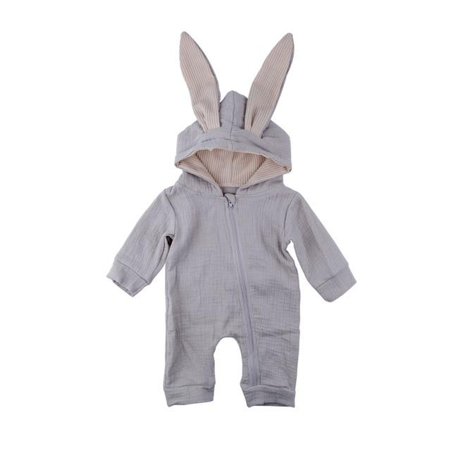 Newborn Baby Girls Boys Clothing Rompers Rabbit Warm Long Sleeve Bunny Styledresskily-dresskily