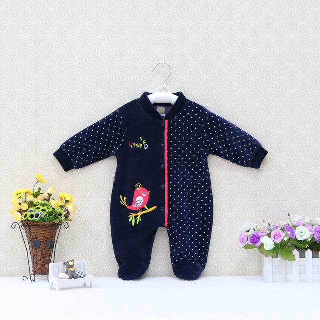 2018 Spring and Autumn Thick Baby Girls One Piece Romper Long Sleevedresskily-dresskily