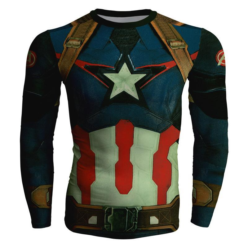 2018 New 3D Captain America Crewneck Cool Superhero Long Sleeve 3d Sweatshirtdresskily-dresskily