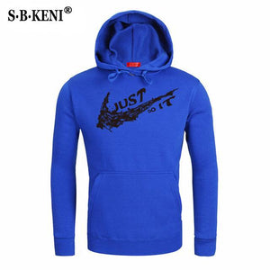 2018 New Design JUST DO IT Mens Hoodies Cotton Funny Print Hoodiedresskily-dresskily