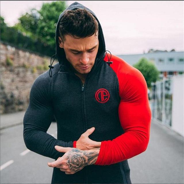 2018 New Arrival Brand Bodybuilding Hoodies Men Gyms Sweatshirts Long Sleeve Cottondresskily-dresskily