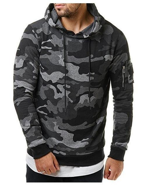 2018 New Mens Hoodies And Sweatshirts Zipper Hooded Sweatshirts Male Clothing Fashiondresskily-dresskily