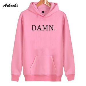 2018 Aikooki DAMN Hoodies Men/women White Cotton Harajuku Sweatshirt men/women Fashion DAMNdresskily-dresskily