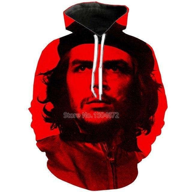 NEW Fashion Male 3d Printed Che Guevara Hoodie For Men Autumn Hoodeddresskily-dresskily