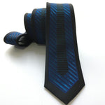 Young Men Fashion Skinny Tie Jacquard Woven High Quality Necktie Black withdresskily-dresskily