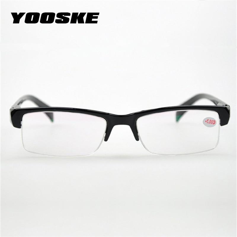 YOOSKE Women Half Frame Myopia Glasses HD Resin High Quality Cheapdresskily-dresskily