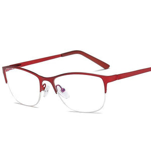 Women Metal Cat Eye Glasses Frame Brand Designer Fashion Men Cleardresskily-dresskily