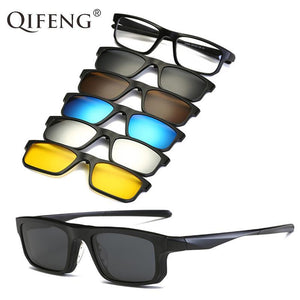 Optical Spectacle Frame Eyeglasses Men Women TR90 With 5 Clip Ondresskily-dresskily