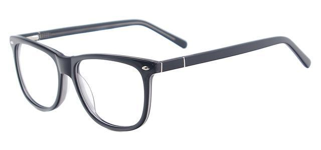 Men Classic Eyeglasses Big Oval Quality Acetate Prescription Spectacles For Lenses Ofdresskily-dresskily