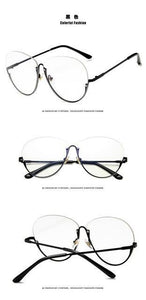 Vintage Myopia Half Glasses Frame Men and Women Retro Eyeglasses Frames Eyedresskily-dresskily