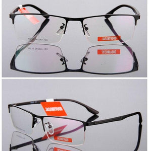 Half Rim Optical Glasses Men Glasses Myopia TR90 Reading Prescription Computerdresskily-dresskily
