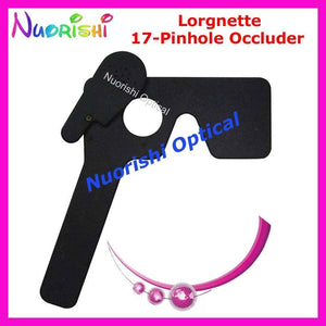 205E Professional Ophthalmic Lorgnette 17 Pinhole Black Plastic Vision Test Eye Occluderdresskily-dresskily