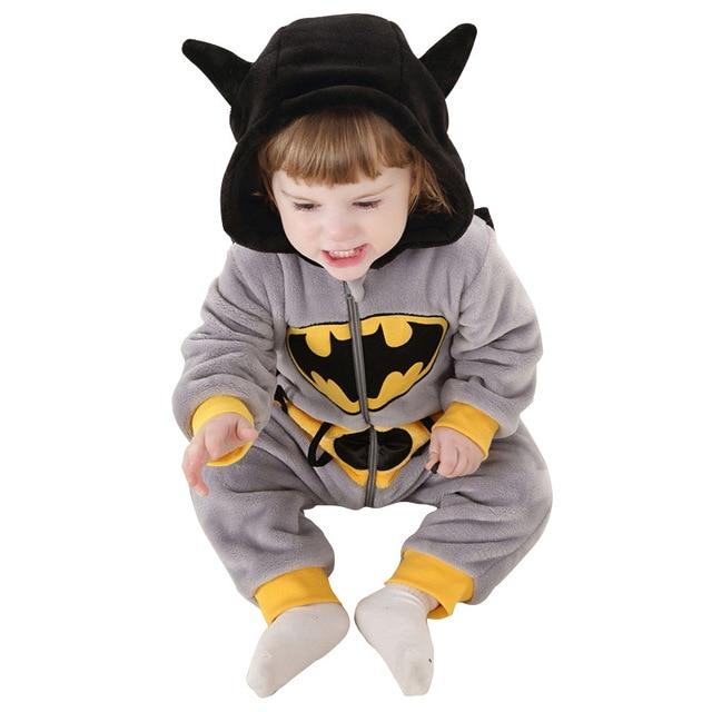 Animal Baby Romper Infant Costume 2018 New Spring Hooded Flannel Toddler Babydresskily-dresskily