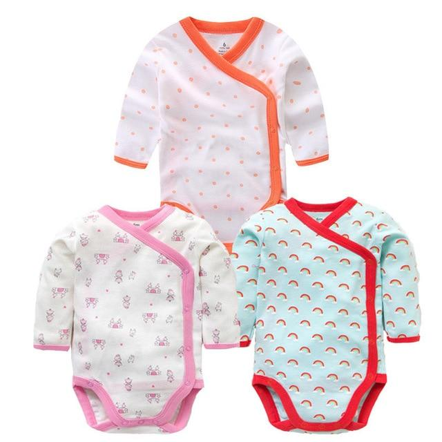 Smiling Babe 3 PCS/lot Fashion Baby Bodysuits Infant Jumpsuit Long Sleeve Babydresskily-dresskily