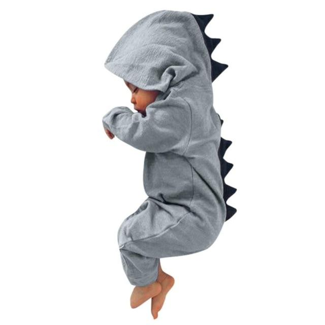 #5001Newborn Infant Baby Boy Girl Dinosaur Hooded Romper Jumpsuit Outfits Clothes DROPSHIPPINGdresskily-dresskily