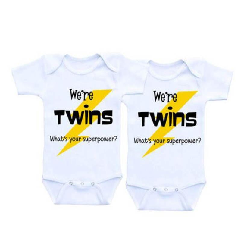 Twins boy and girl gift Baby Clothes Baby Bodysuit 0-12M infantdresskily-dresskily
