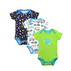 1PCS New Baby Bodysuit Lovely Printing Infant Jumpsuit Pure Cotton Short Sleevedresskily-dresskily