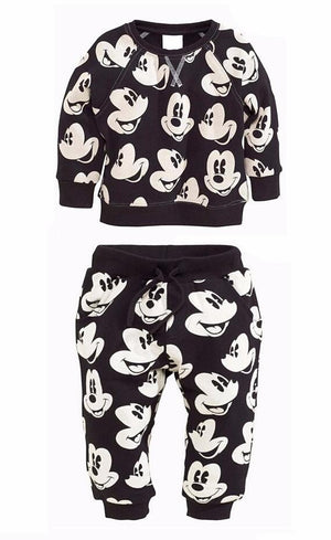 New infant Girls Boys Clothing Sets Mickey sweater+pants 2pcs/set Casual Newborn Babydresskily-dresskily