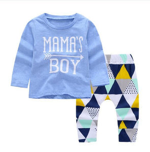 2018 autumn baby boy clothes Long sleeve Letter pattern T shirt +pantsdresskily-dresskily