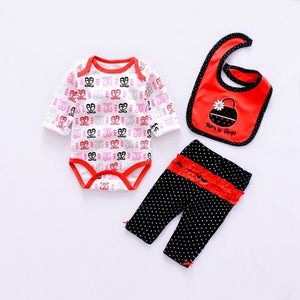 2018 Cute baby girl Clothing Sets cotton baby clothes Newborn boy suitsdresskily-dresskily