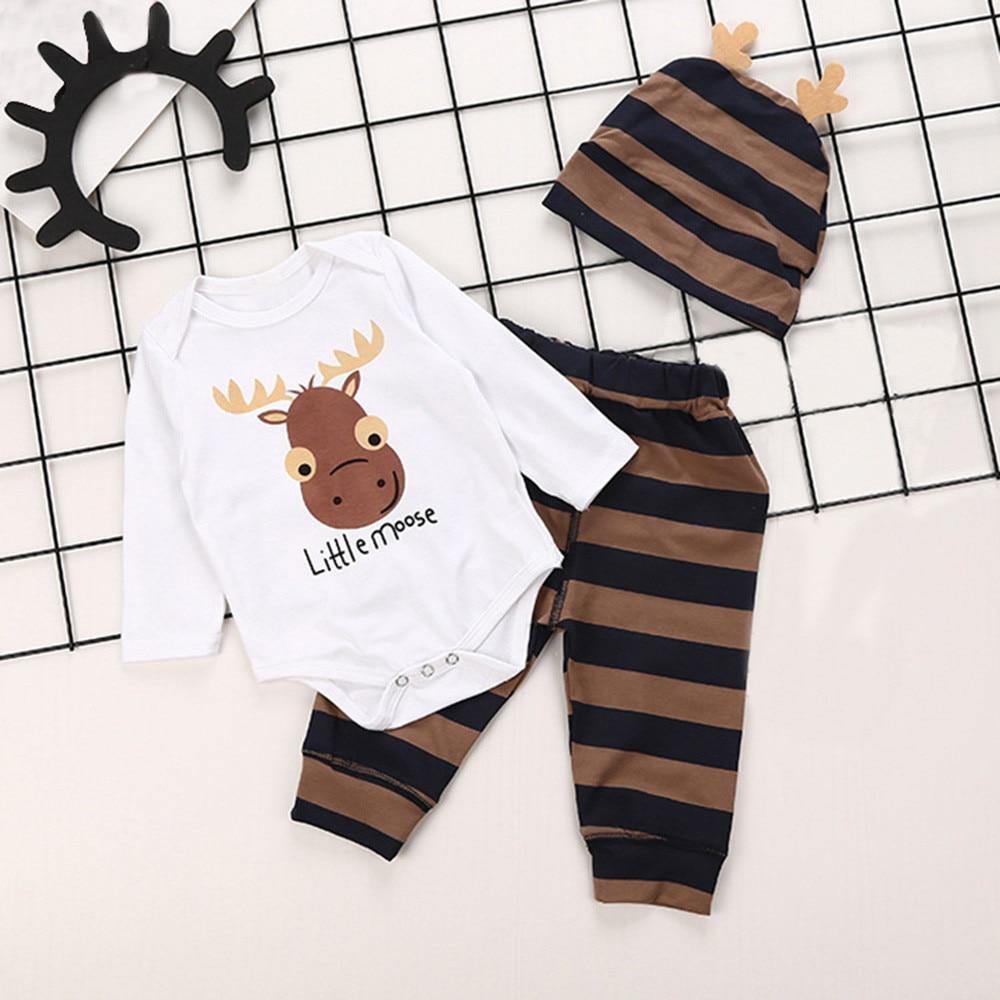2018 bebes baby boy clothes set 3PCs Letter Print Long Sleevesdresskily-dresskily