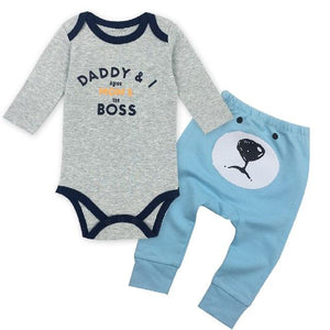 Baby boys Clothing O-neck Long Sleeved Bodysuits and Baby pants suit 100%dresskily-dresskily