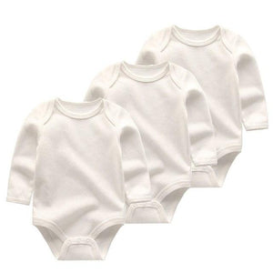 3 PCS summer boy long sleeve Baby Bodysuits cotton baby jumpsuit girlsdresskily-dresskily