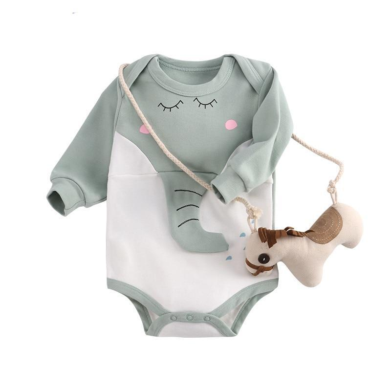 wisbibi 2018 new rompers for baby One-Pieces rompers long sleeve cotton babydresskily-dresskily