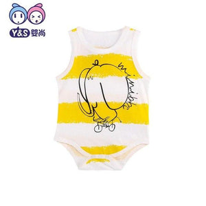 Wisbibi 2018 new baby boys girls sleeveless rompers cotton cartoon jumpsuits babydresskily-dresskily