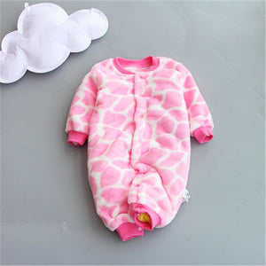 New Baby Winter Rompers Newborn Cotton jumpsuit Thick Baby Girlsdresskily-dresskily