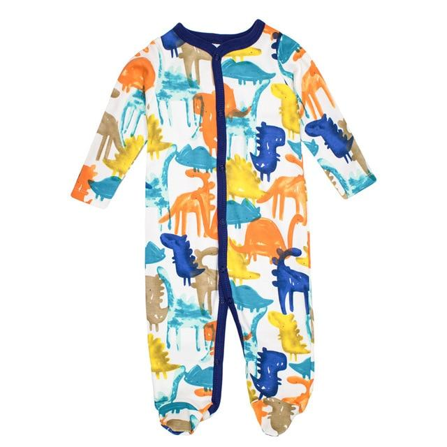 Baby Boys Romper 100% Cotton Long Sleeves Baby Clothing Comfortable Baby Pajamasdresskily-dresskily