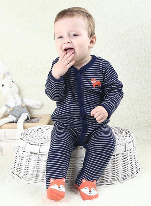 2018 baby pajamas boys jumpsuit newborn coverall romper cartoon raccoon infants bebedresskily-dresskily
