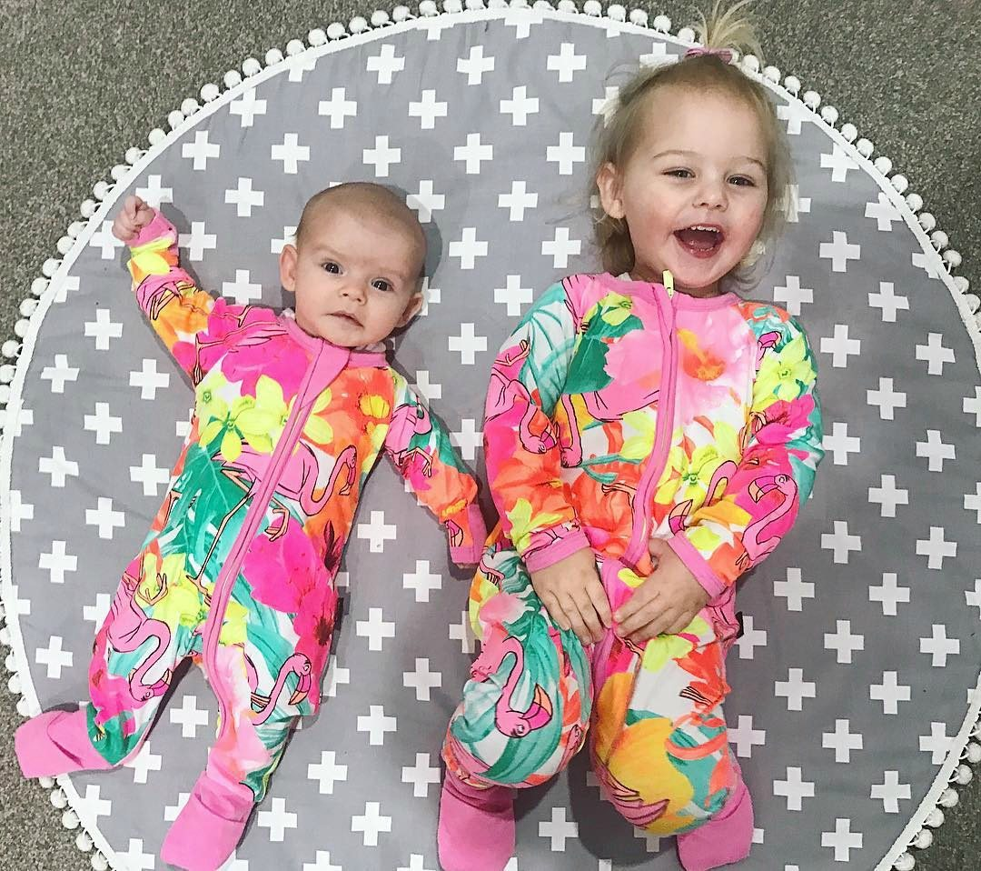 Rare Flamingo Wondersuit Printed Long Sleeve Baby Boy Girl Clothes Jungle Bookdresskily-dresskily