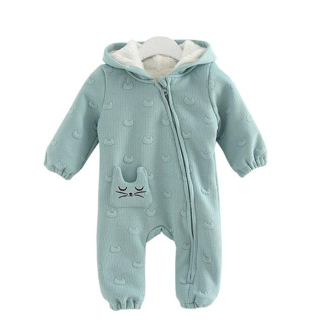 Baby Girl Romper Winter Thicken Warm Christmas Romper Newborn Clothing Babydresskily-dresskily