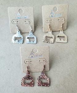 Steer Tag Earrings