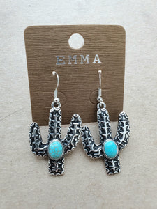 Cactus Turquoise Earrings