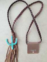 Load image into Gallery viewer, Cactus Leather Necklace