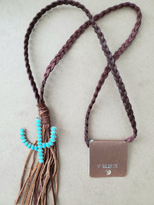 Cactus Leather Necklace