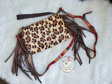 Load image into Gallery viewer, L&B Leopard Serape Clutch