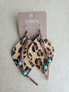 Leopard Hide Earrings