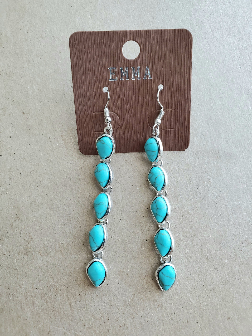 Chained Turquoise Earrings