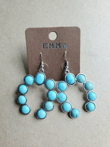 Turquoise Squash Blossom Earrings