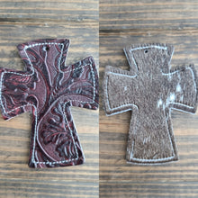 Load image into Gallery viewer, Cross Cowhide Charm