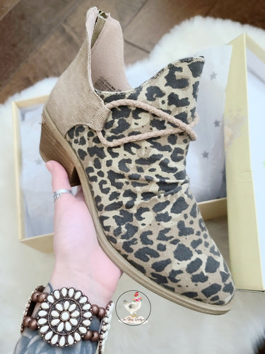 Go West Leopard Booties