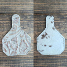 Load image into Gallery viewer, Ear Tag Cowhide Charm