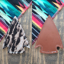 Load image into Gallery viewer, Arrowhead Cowhide Charm