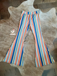 Serape Striped Flares