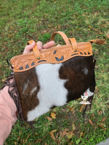Small Cowhide Fringe Bag