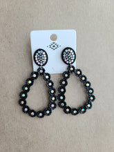 Load image into Gallery viewer, Jeweled Stud Hoop Earrings